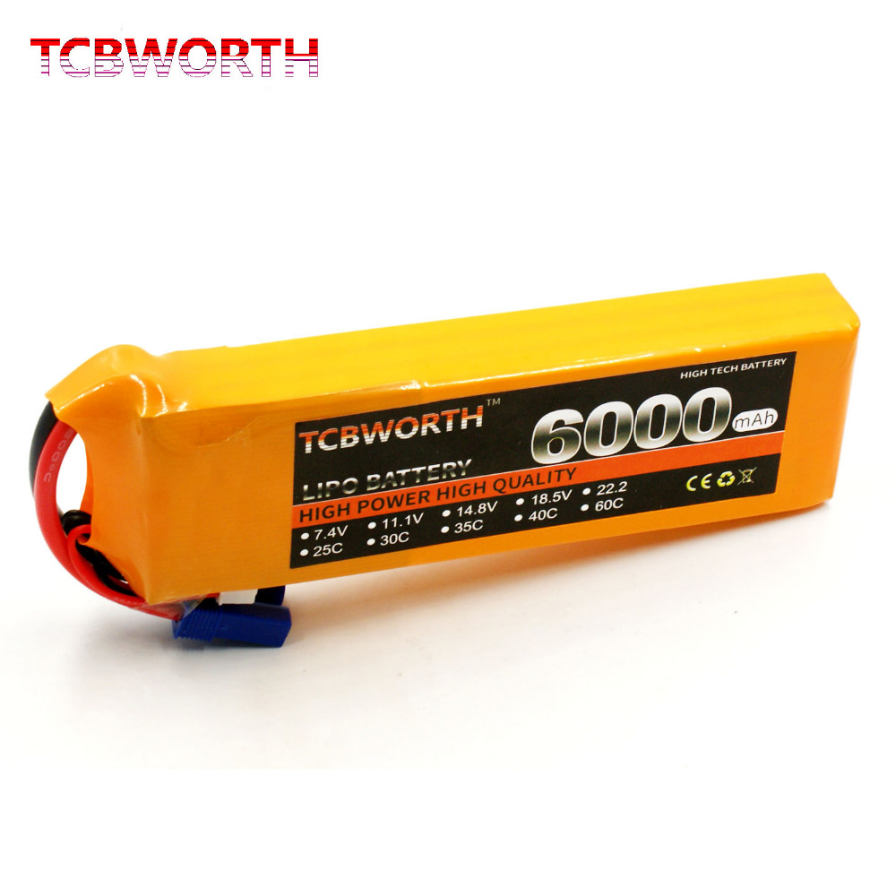 TCBWORTH Batteries 7.4V 6000mAh 35C 2S RC Toys LiPo battery For RC Airplane Quadrotor Car Boat Drone AKKU Battery LiPoTCBWORTH Batteries 7.4V 6000mAh 35C 2S RC Toys LiPo battery For RC Airplane Quadrotor Car Boat Drone AKKU Battery LiPo