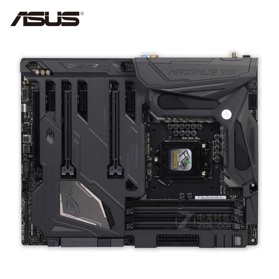все цены на Asus ROG MAXIMUS VIII FORMULA Desktop Motherboard M8F Z170 Socket LGA 1151 i7 i5 i3 DDR4 64G ATX Second-hand High Quality онлайн