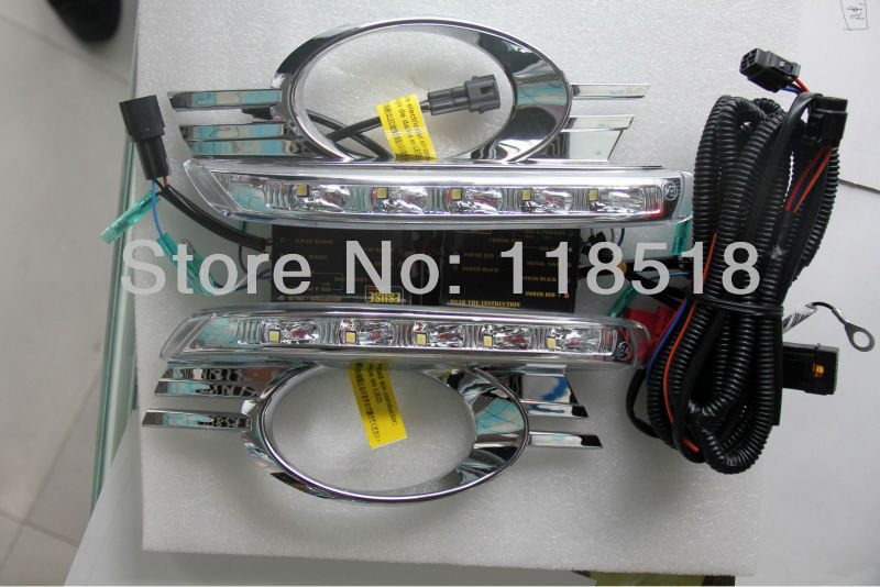SMK For MERCEDES BENZ W204 CLASS C LED DRL daytime running light with Multi-control, turn light function, Protection door mirror turn signal light for mercedes benz w163 ml270 ml230 ml320 ml400 ml350 ml500 ml430 ml55