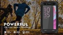 Para Sony Xperia X Caso AMOR MEI À Prova de Choque Sujeira Água resistente Armadura De Metal Tampa Do Caso Do Telefone para Sony Xperia X Desempenho