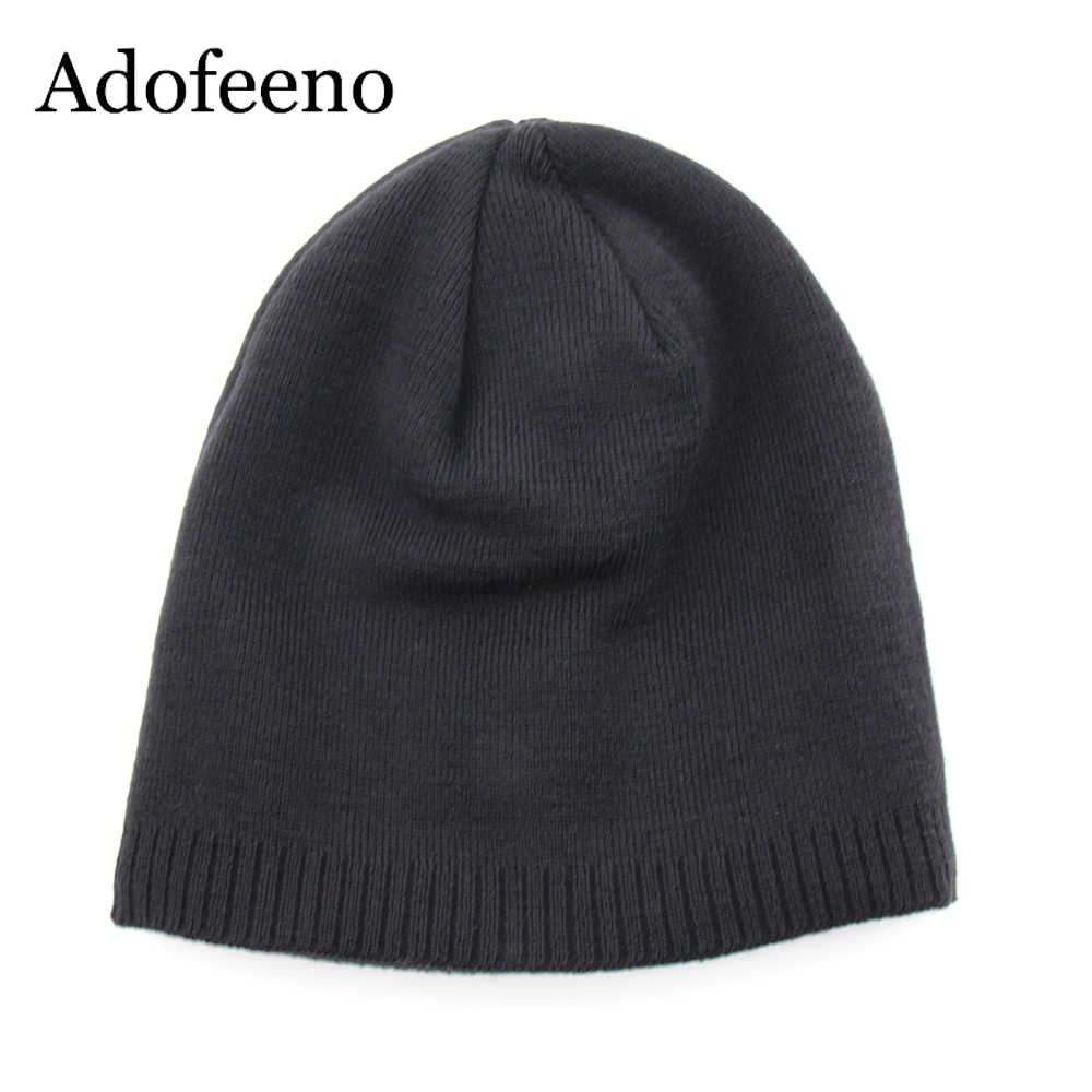 82a3251fc Adofeeno Quality Winter Hat For Men Skullies Beanies Fashion Warm Caps  Elasticity Knitted Beanie Bonnet Hats Drop Shipping