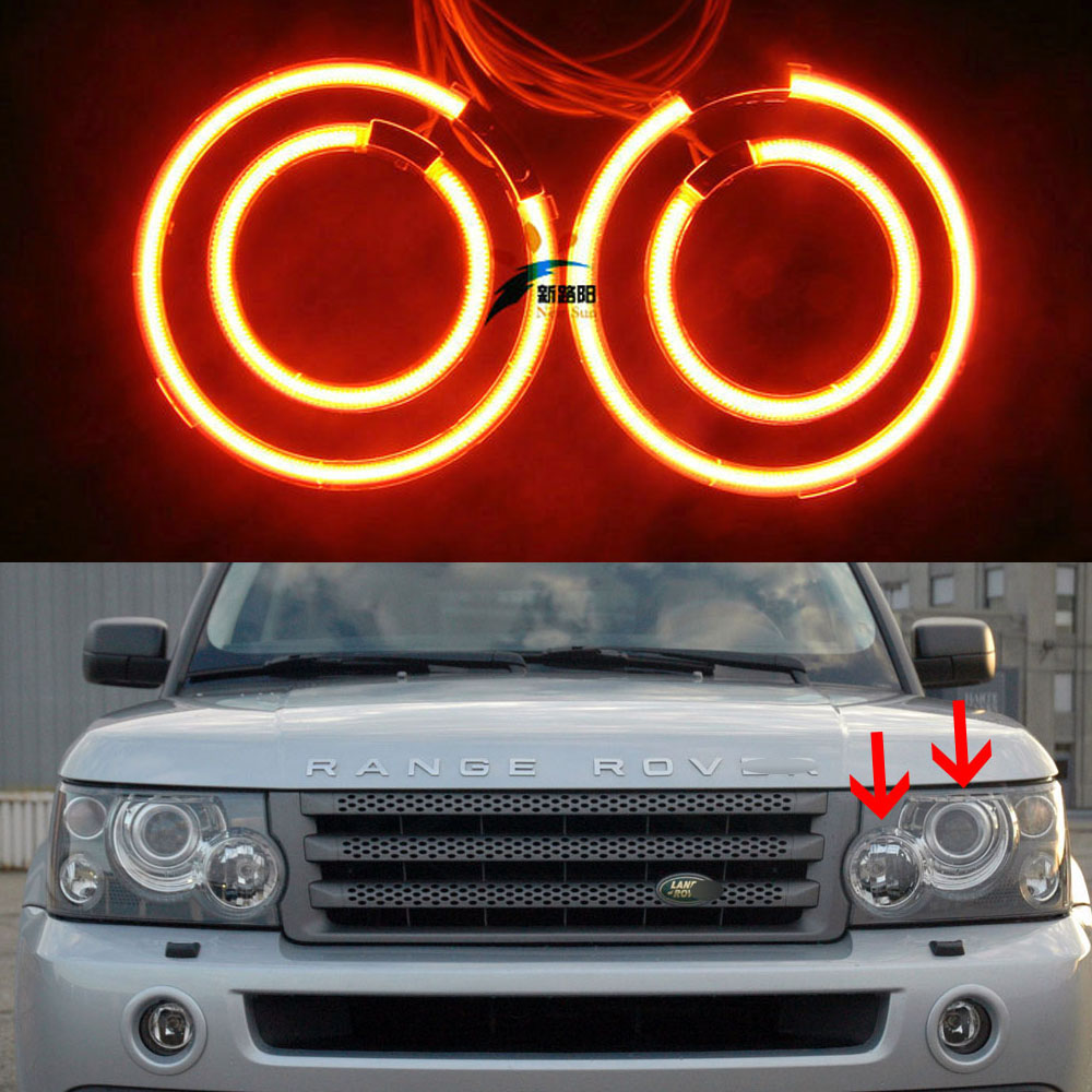 4x CCFL Angel Eyes Kit 7000K Halo Rings Headlight For Land Rover Range Rover 2003 2004 2005 2006 2007 2008 2009 12V Car Styling for cadillac cts 2003 2004 2005 2006 2007 excellent ccfl angel eyes kit ultrabright illumination ccfl angel eyes kit halo ring