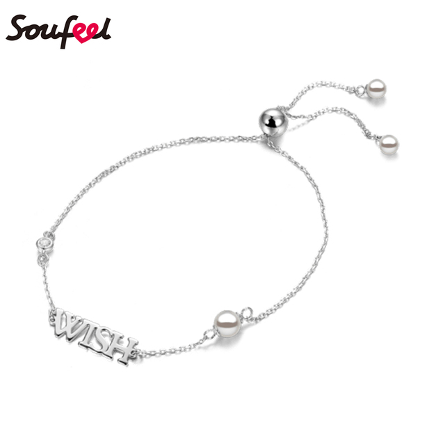 2d3855db6 SOUFEEL Custom Jewelry Gift Personalized Name Bracelets Any Letters Bangle  Decoration for Her Fashion Accessories