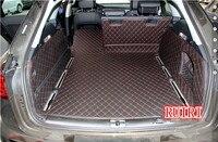 Высокое качество! Полный набор багажнике автомобиля коврики для Audi A6 Avant C7 2017 2011 прочный водонепроницаемый грузовой лайнер коврик коврики д