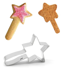 Christmas Magic Wand Cookie Cutter Stainless Steel Candy Biscuit Mold Cooking Tools Mould Stamp