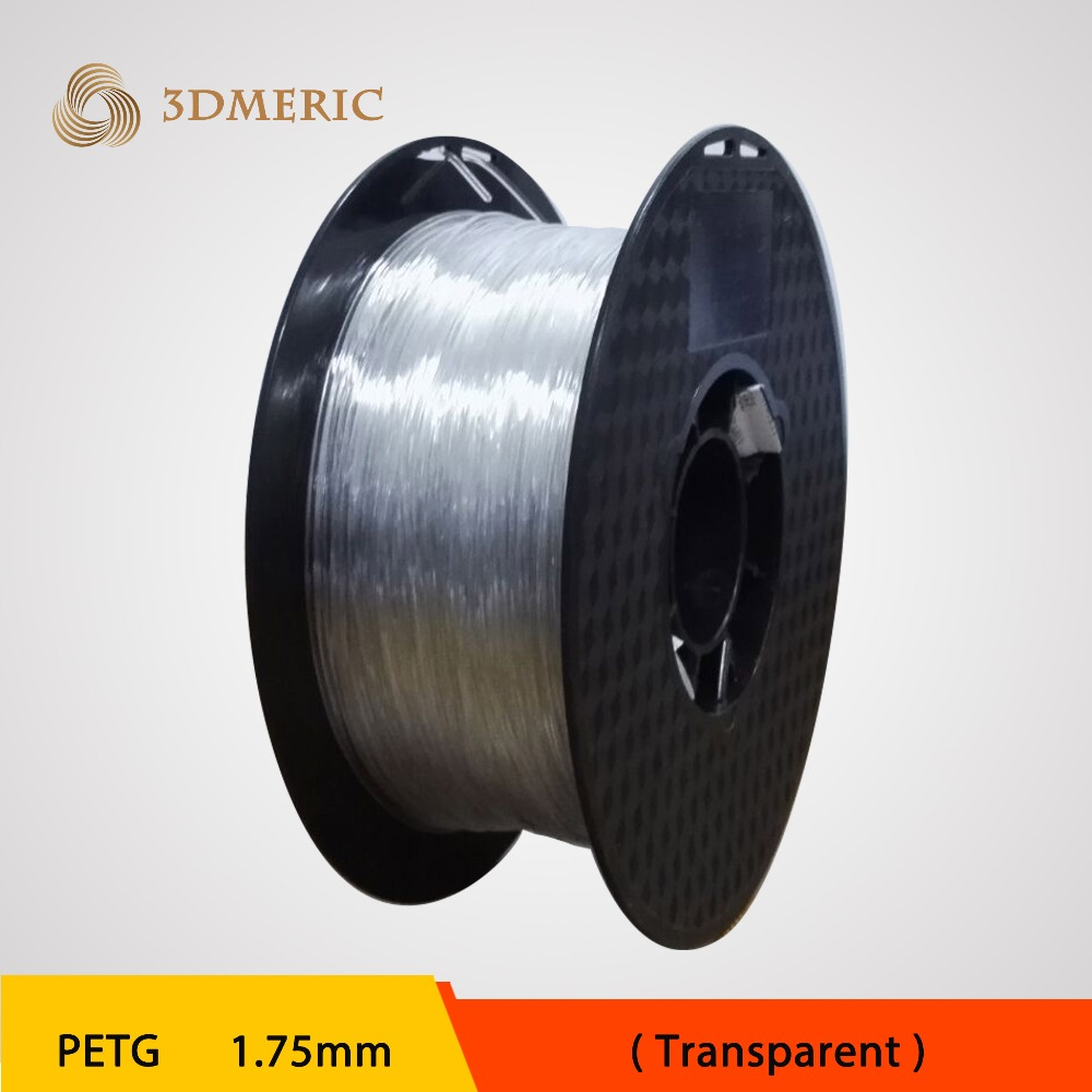 ФОТО Transparent PETG T glass 3D Printer Filament Acid-Alkaline Resistant 1.75mm 1kg spool Plastic Material Excellent Tenacity