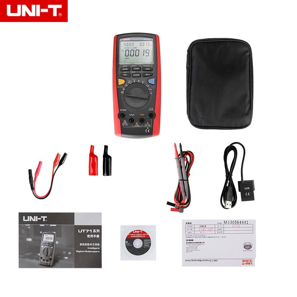 Original UNI-T UT71B 4 1/2 Intelligent Digital Multimeter Portable Multimeter frequency capacitance temperature & usb