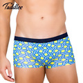 Taddlee Brand Men Basic Underwear Soft Modal Boxer Trunks Gay Penis Pouch Wonderjock Big Plus Size Elastic Colors Print Shorts