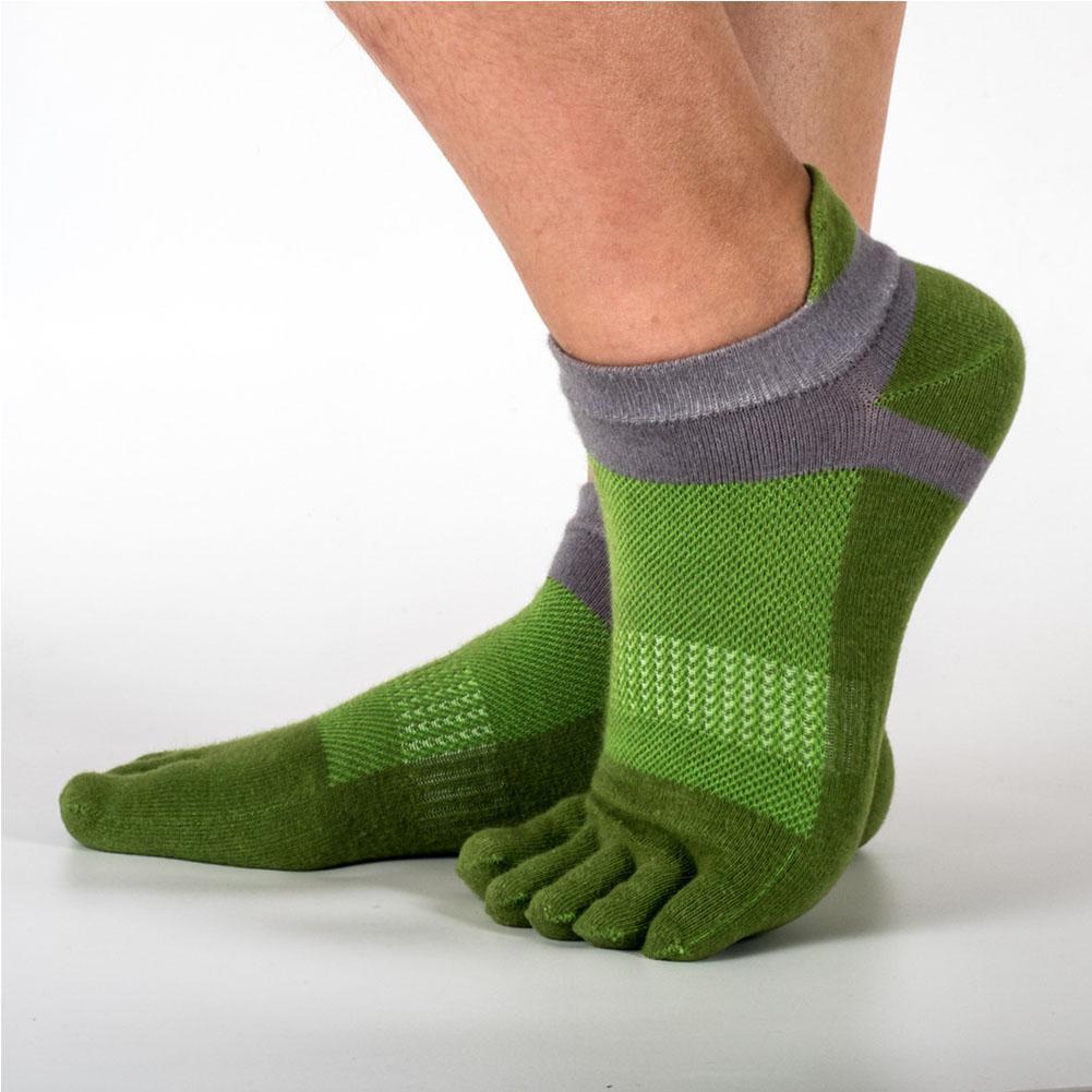 Mounchain Short Tube Mesh Split Toe Sports Sock Sweat Absorption Breathable Christmas Gift