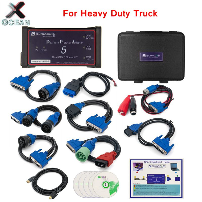 2019 DPA5 Dearborn Protocol Adapter 5 Heavy-Duty Truck Diagnostic Tool DPA 5 Same With Nexiq USB Link 2 Diesel Truck Diagnostic
