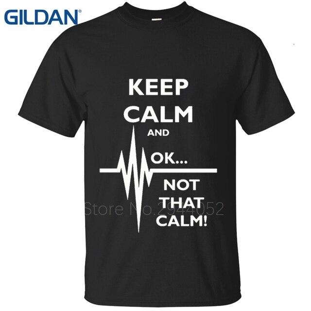 8e4c30ce9 Keep Calm Ok Not That Calm Paramedic EMT t shirt Purple men's Solid color  uniform Rendering Hip t shirt