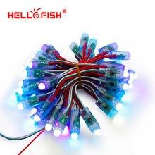 Точечные источники рекламы pixel полноцветный привет рыбы модуль света шт./лот водонепроницаемый