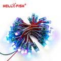 Hello Fish 12 мм WS2811 Полноцветный Pixel Модуль DC5V IP68 Водонепроницаемый Точечные Источники Света Для Рекламы 50 шт./лот Free Доставка