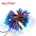 Hello fish 12mm luzes ponto ws2811 full color pixel módulo dc5v ip68 à prova d' água para a propaganda 50 pçs/lote free grátis