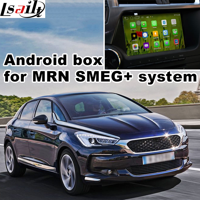 Android 6.0 GPS navigation box for Citroen DS5 DS3 DS4 MRN SMEG+ system video interface box with Carplay youtube waze yandex