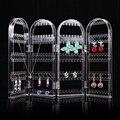WD # Творческий Crystal Clear 4 Двери Браслет Серьги Ожерелье Ювелирных Изделий Стойки Дисплея Хорошая Упаковка Груза падения DM #6