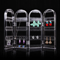 WD # Criativo Crystal Clear 4 Portas Pulseira Brincos Colar Exibir Jóias Stand Boa Embalagem DM Transporte da gota #6