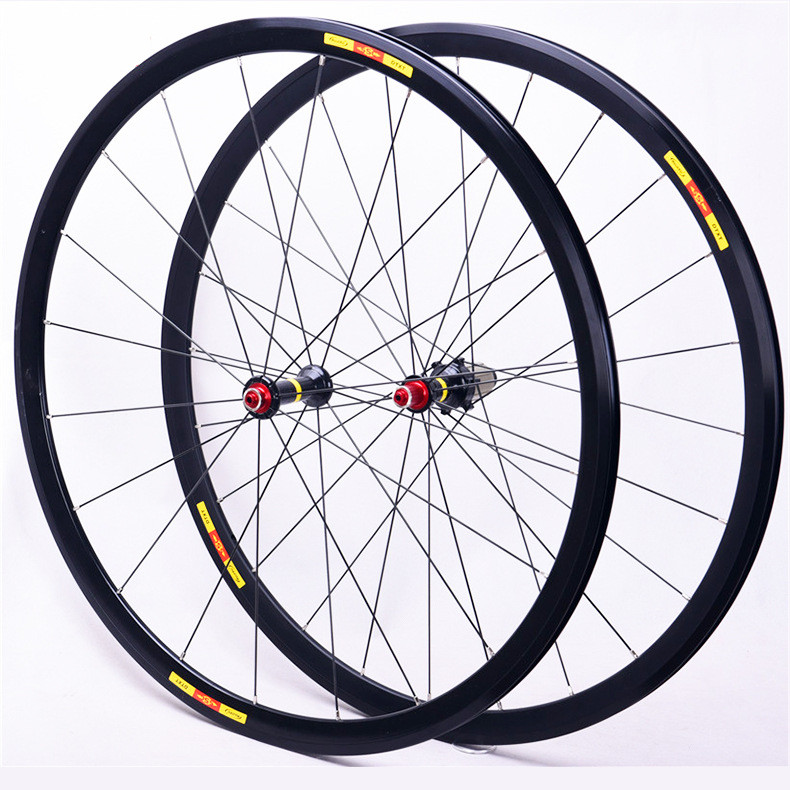 Ultra light bike <font><b>wheel</b></font> set 700C 24H V Brake <font><b>Wheels</b></font> <font><b>bmx</b></font> Road Bicycle <font><b>Wheel</b></font> Aluminium Alloy Road Wheelset Bicycle <font><b>Wheels</b></font> image