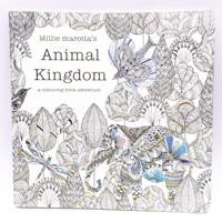1pcs 90 Page Book Adult Child Graffiti Animal Kingdom A Colouring Book Adventure Intellectual Development Relieve