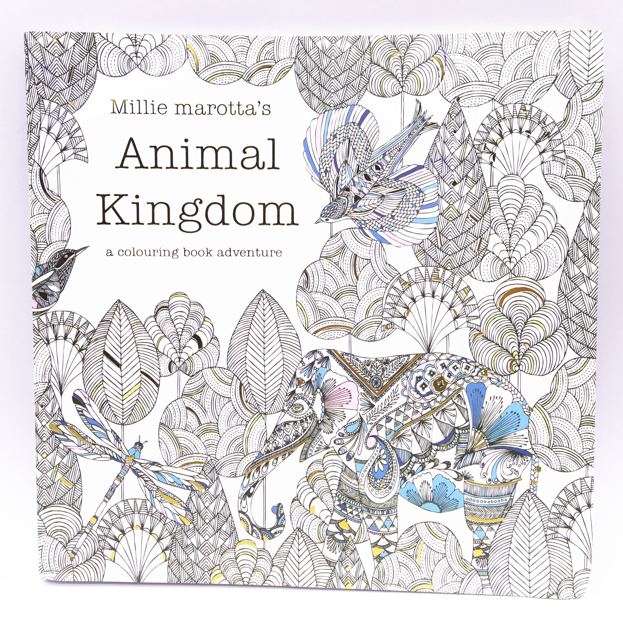 1pcs  90 Page Book Adult Child Graffiti Animal Kingdom A Colouring Book Adventure Intellectual Development Relieve Stress new diy graffiti page by page lamp table calendar light