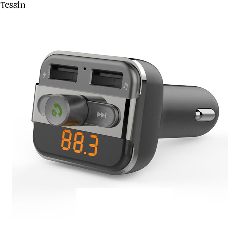 INGMAYA Car Mp3 Player Charger 2 USB 3.4A U Disk TF Card Bluetooth - Reservdelar och tillbehör för mobiltelefoner - Foto 1