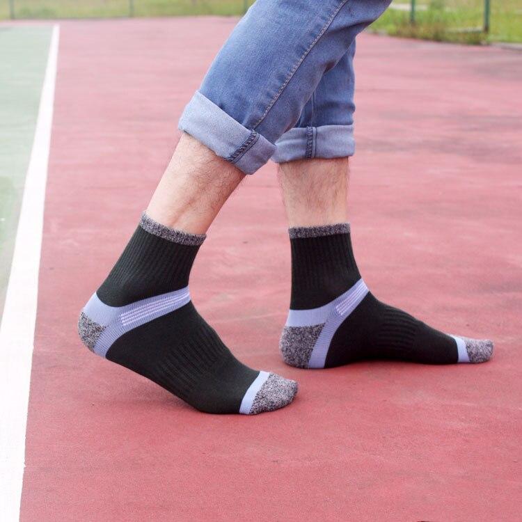 2143469d7 spring summer men s fashion cotton socks casual patchwork sporting  breathable ankle length socks -in Men s Socks from Underwear   Sleepwears  on ...