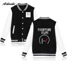 Twenty One Pilots Baseball Jacket Sweatshirt Women Hip Hop Famous Singer Winter Worm Music Star fans Idol Men Jacket Clothes xxs