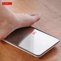 AIWILL электронные персональные весы домашние цифровые весы для тела большая емкость 150 кг портативные точные светодио дный весы для тела