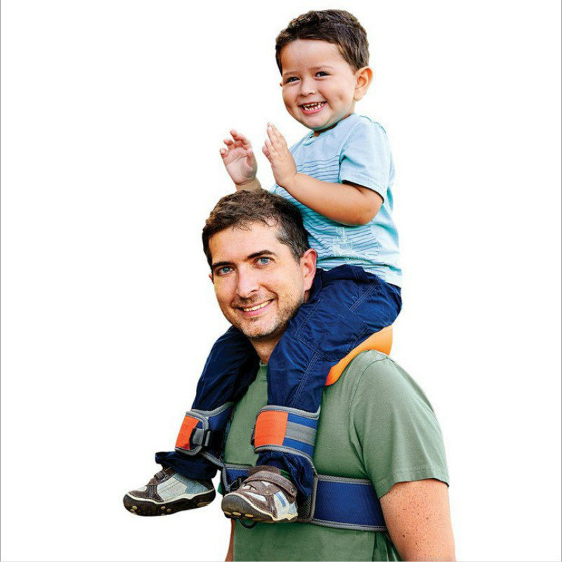 Toddler Safe Portable Parent-child Outdoors Sport Saddle Baby Newborns Outdoor Travel Tool Hand Shoulder Carrier Shoulders Strap