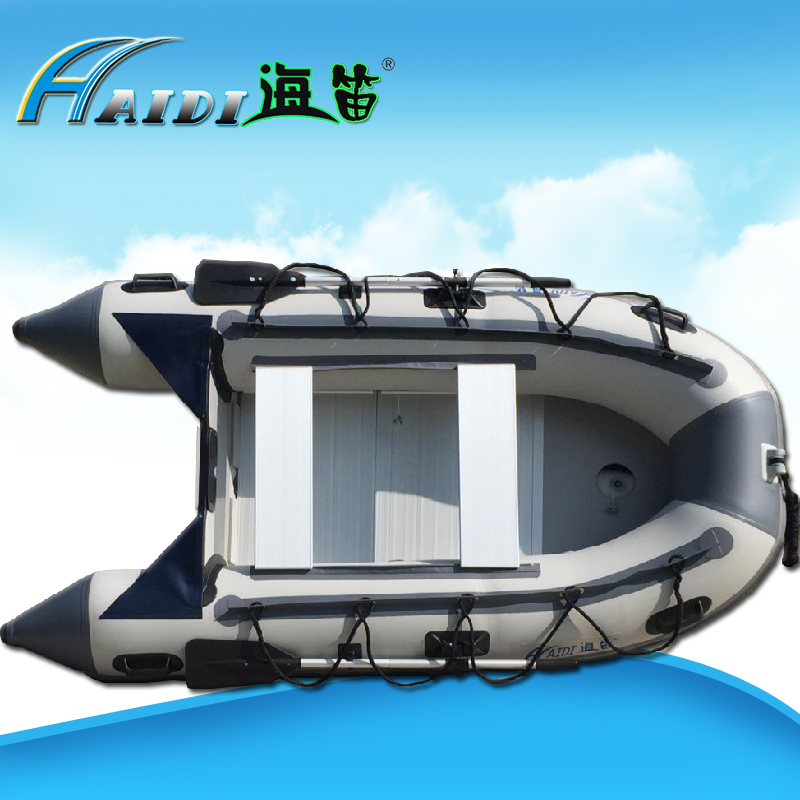US $559 44 |HaiDi Boat PVC Inflatable Boat 3 4 person Sport Fishing Rescue  Dinghy Boat Yacht Tender Raft 3 M aluminum alloy base plate-in Marine