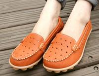 סתיו גבירותיי אופנה סנדלי עור מזדמנים העור של נשים נעלי פנאי נשים נעלי נשי נעלי גן