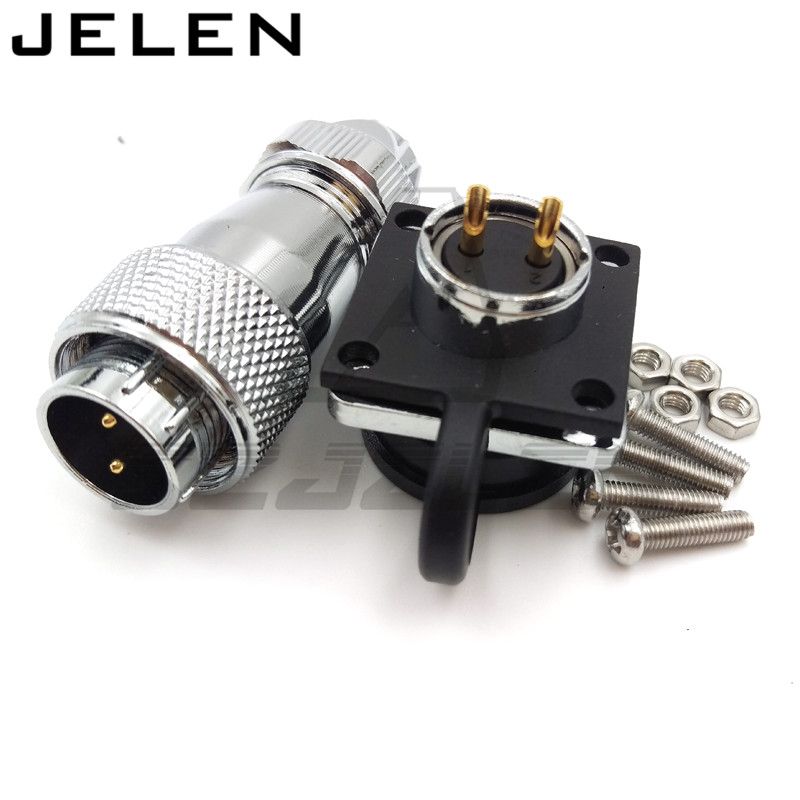 WS16 Connectors 2 pin,High voltage connector plug socket, industrial power connector 2 pin, waterproof, shockproof, IP68 jelen hp20 series 7 pin industrial connectors plug socket aviation connector power charger male and female connectors 7 pin