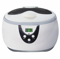 RERAS Portable 750ml Mini Ultrasonic Cleaner With Stainless Steel Tank For Jewelry Glasses Watch Ultrasonic Cleaning