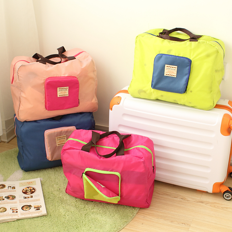 new year Candy color folding clothes travel storage bag storage bag liner bag Storage Bags in Storage Bags from Home Garden