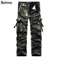 Batmo 2017 new arrival high quality cotton Camouflage cargo pants men,casual camouflage pants 3 color plus-size 29-38