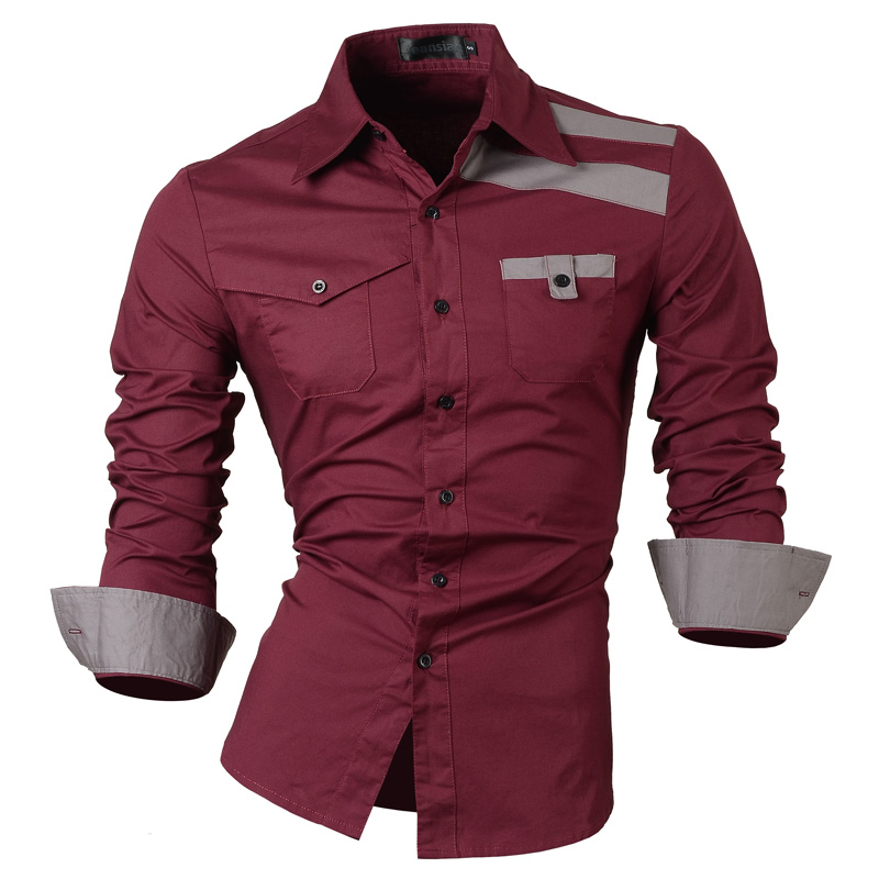 Buy 2017 mens spring new fashion casual for Where to buy casual dress shirts