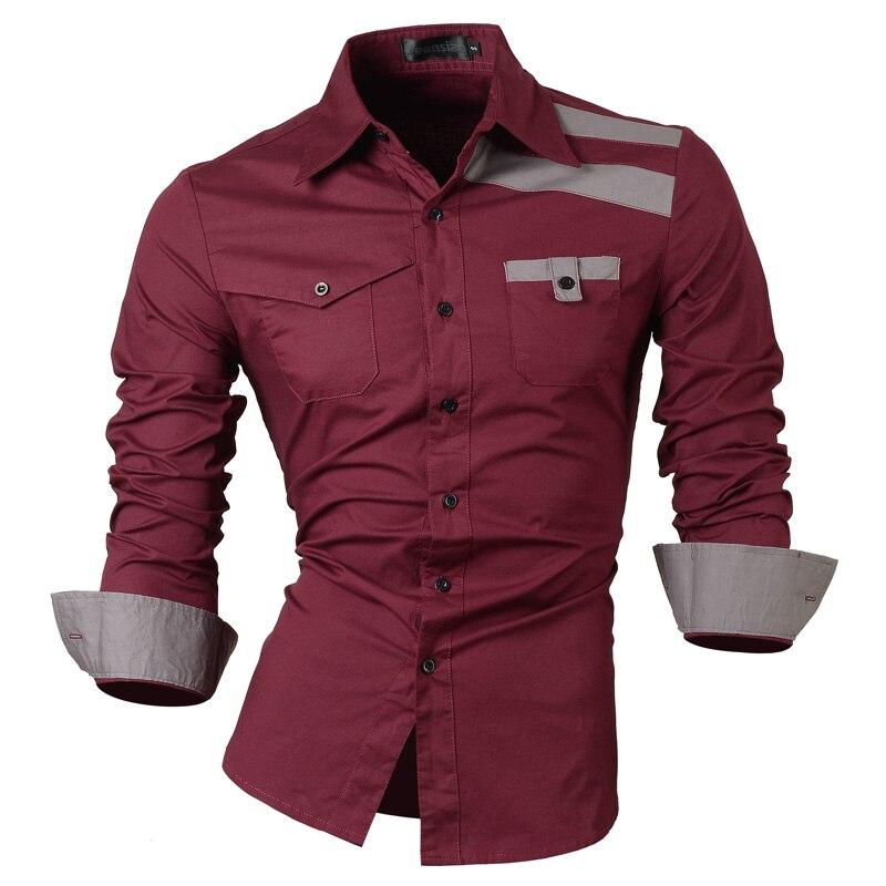 2017 Mens spring New Fashion Casual slim fit long sleeved men s dress shirts Korean styles