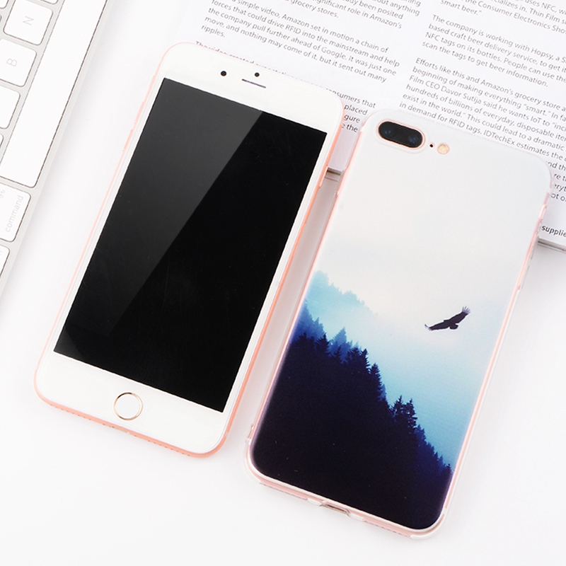 TPU Cover Phone Case For iPhone 6 6S 7 8 Plus 5S SE For Samsung Galaxy S6  S7 Edge S8 J5 J3 J7 A7 A3 A5 2016 Silicone Phone Bags