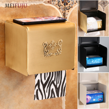 MEIFUJU Aluminum Toilet Paper Holder with Shelf Antique Toll Black Waterproof White Wall Roll toilet Holders