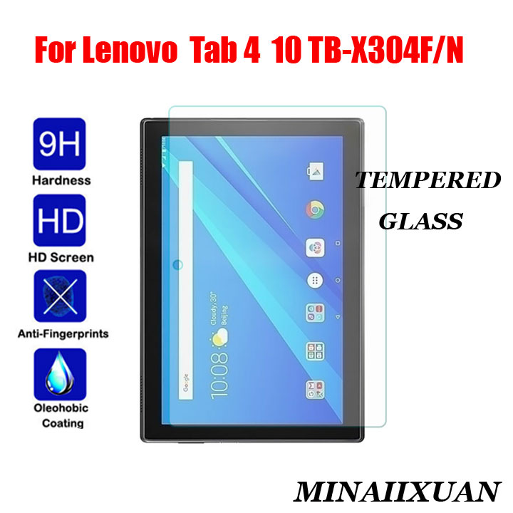 9H Tempered Glass for Lenovo TAB 4 10 TB-X304F TB-X304N TB-X304L TAB4 10.1 inch Prevent Scratch Tablet Screen Protector Film new 9h glass tempered for huawei mediapad t5 10 tempered glass screen film for huawei mediapad t5 10 inch tablet screen film
