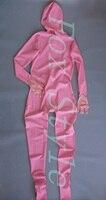 Розовый сексуальный латексный комбинезон для женщин экзотические одежды Teddies Боди резиновое латексное белье Полное покрытие костюм