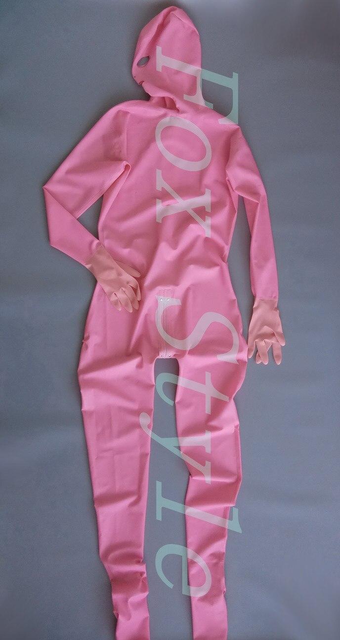 Розовый цвет сексуальный комбинезон из латекса для женщины Экзотические Одежда Боди боди латекса одежда полное тело крышка костюм