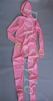 Pink color sexy latex catsuit for woman Exotic Apparel Teddies Bodysuits rubber latex clothing full cover body suit