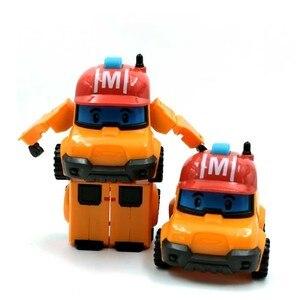 Image 5 - 6 Styles Korean Kid Toys Robocar Poli Transformation Robot Poli Amber Roy Car Toys Action Figure Toys For Children Best Gifts