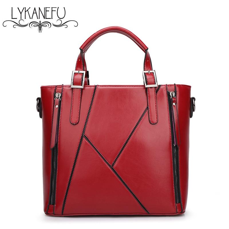 LYKANEFU Tote Purse Bag Women Leather Handbags Bag Top Handle Bolsa Feminina  De