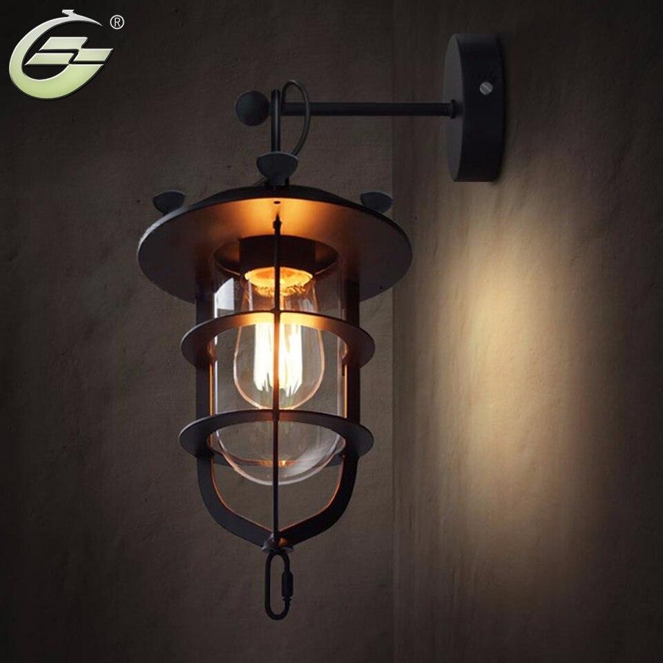 ФОТО Loft vintage lamps fashion Loft2 rh american style rustic wall lamp YSL-1857W Free Shipping
