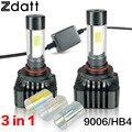 2Pcs 120W 12000LM 9006 HB4 LED Auto Headlight Bulb High Power COB LED 12V Super Bright Car Led Light 6000K White