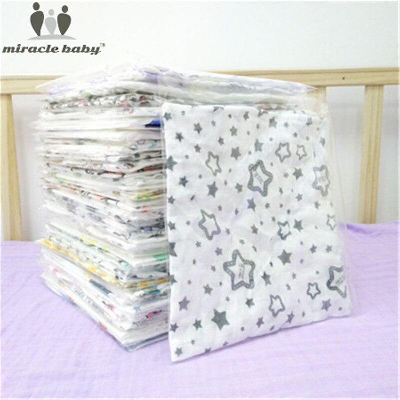 New Baby Bibs Towel 100% Cotton Fiber Newborn Bibs Muslin Triangle Baby Mutlifuctional Snap Square Bib Burp Cloth Infant Scarf
