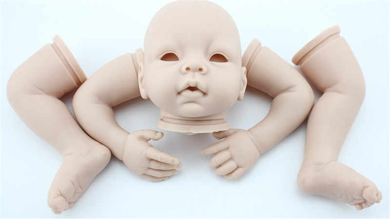 เกิดใหม่ตุ๊กตาชุดสำหรับDIY 18-20นิ้วเกิดทารกซิลิโคนไวนิลไม่พ่นสีที่ว่างเปล่าชุดตุ๊กตาอุปกรณ์ตุ๊กตา