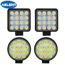 Aslent 4 inch 12v 24v 27W 42W 48W 4800lm Round Led Work Light Bar Spot beam Headlight For 4WD 4x4 Offroad SUV ATV Tractor Truck